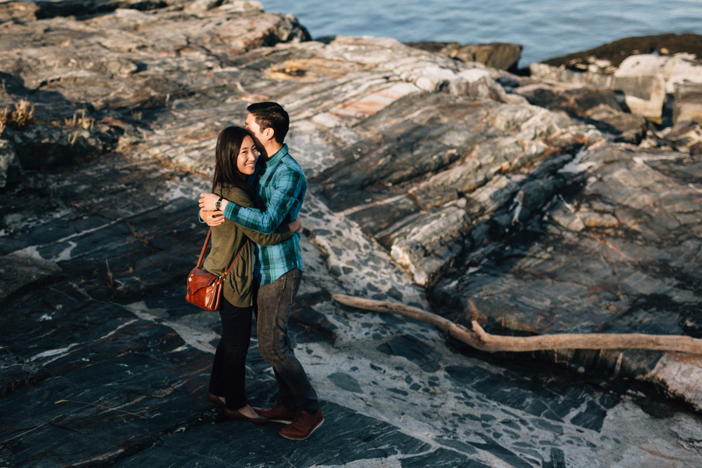 mytyl and vincent west vancouver engagement photography embrace