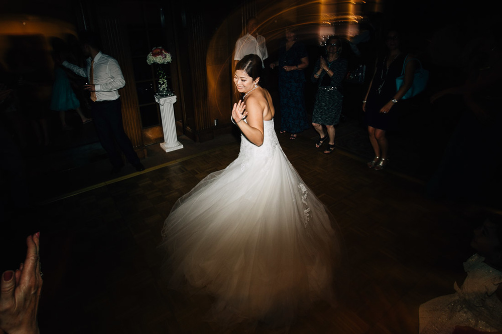the vancouver club wedding reception bride dancing photography