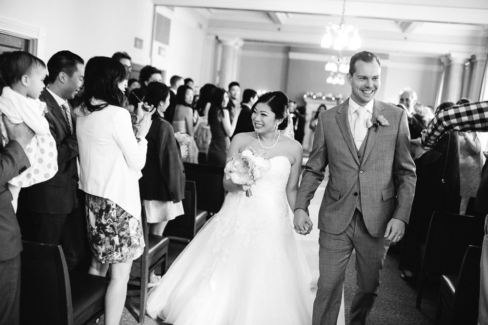 walk down the aisle vancouver wedding club ceremony photography