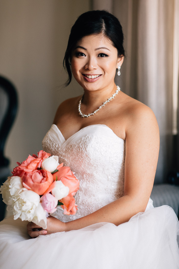 bride portrait in coal harbour at the vancouver club wedding