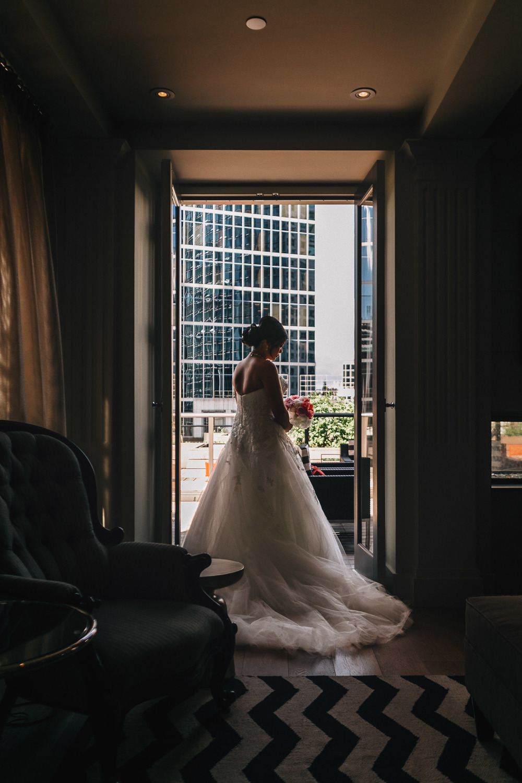 the vancouver club bride portrait wedding photography