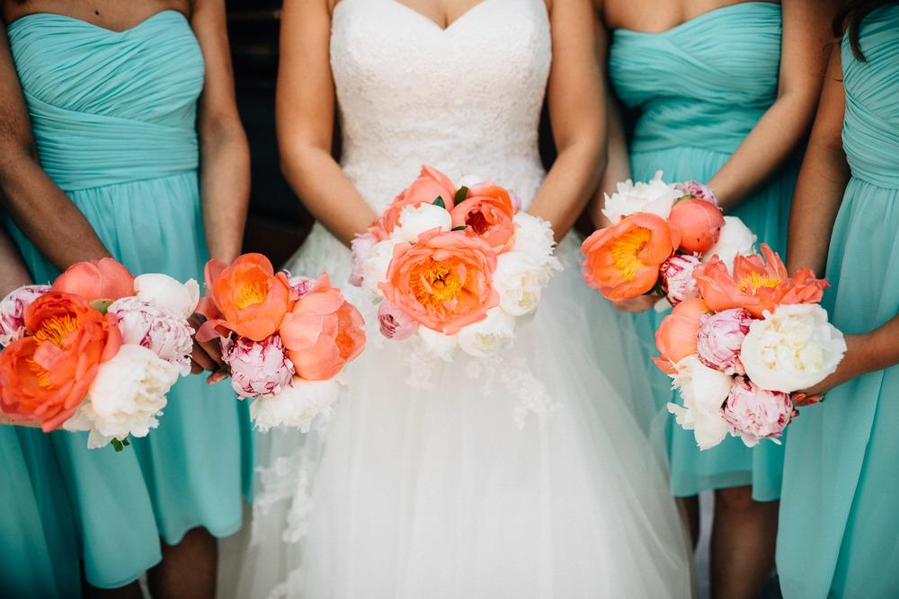 vancouver wedding photography bridesmaids flowers portrait