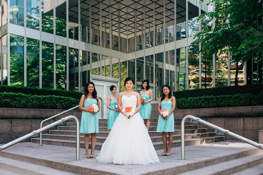vancouver wedding photographer bridesmaids potrait