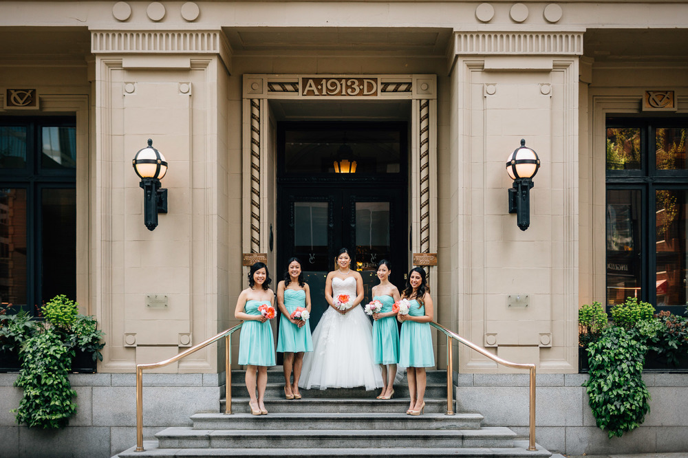 the vancouver club wedding photography bridesmaids
