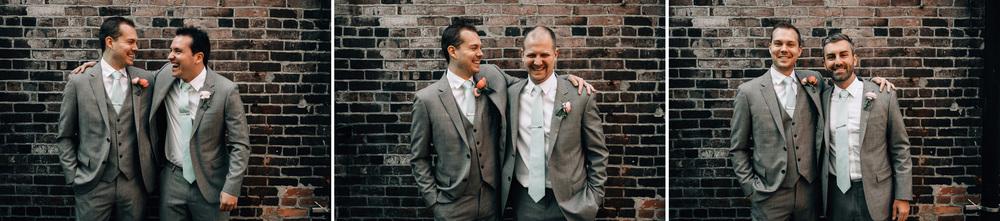gastown vancouver wedding photography groomsmen