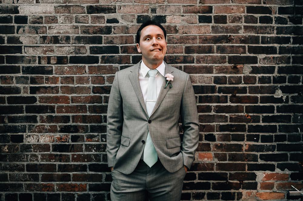 groomsman portrait vancouver wedding photography
