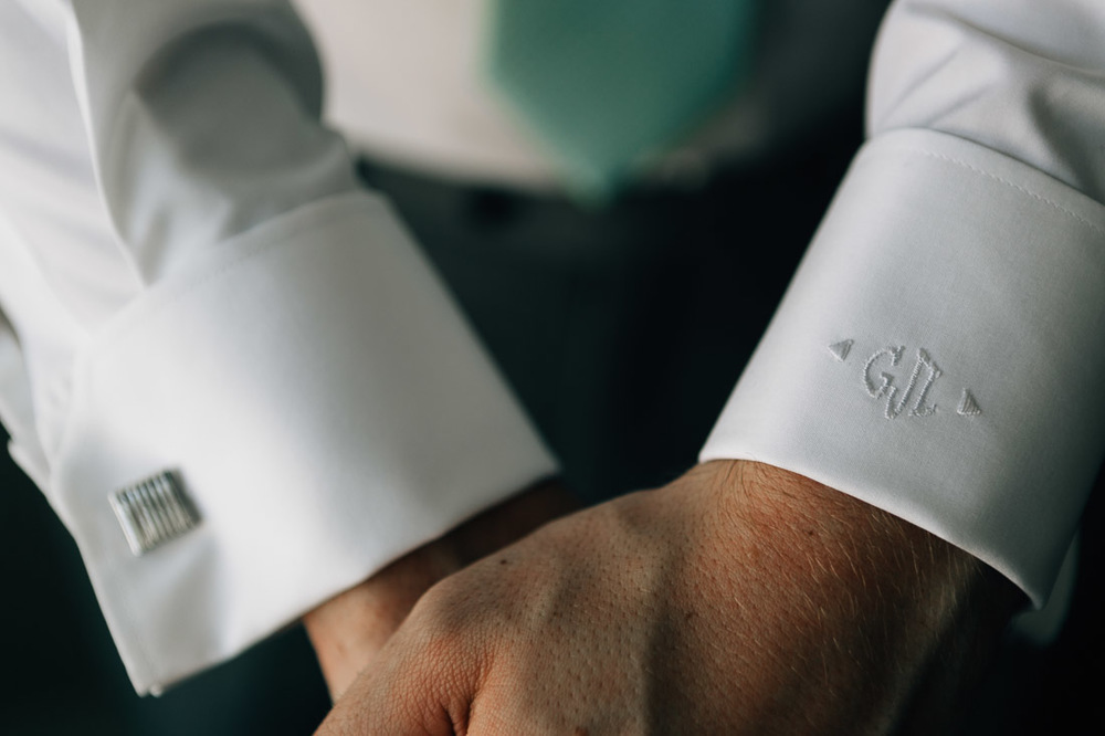 vancouver wedding photography custom groom embroidery on cuff indochino