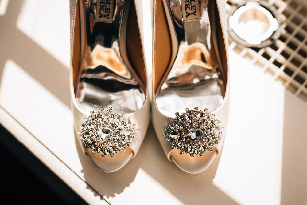 bride wedding shoes at the vancouver club