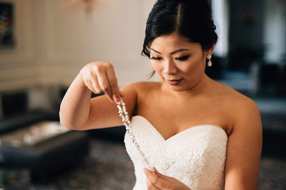 the vancouver club wedding bride opening gift