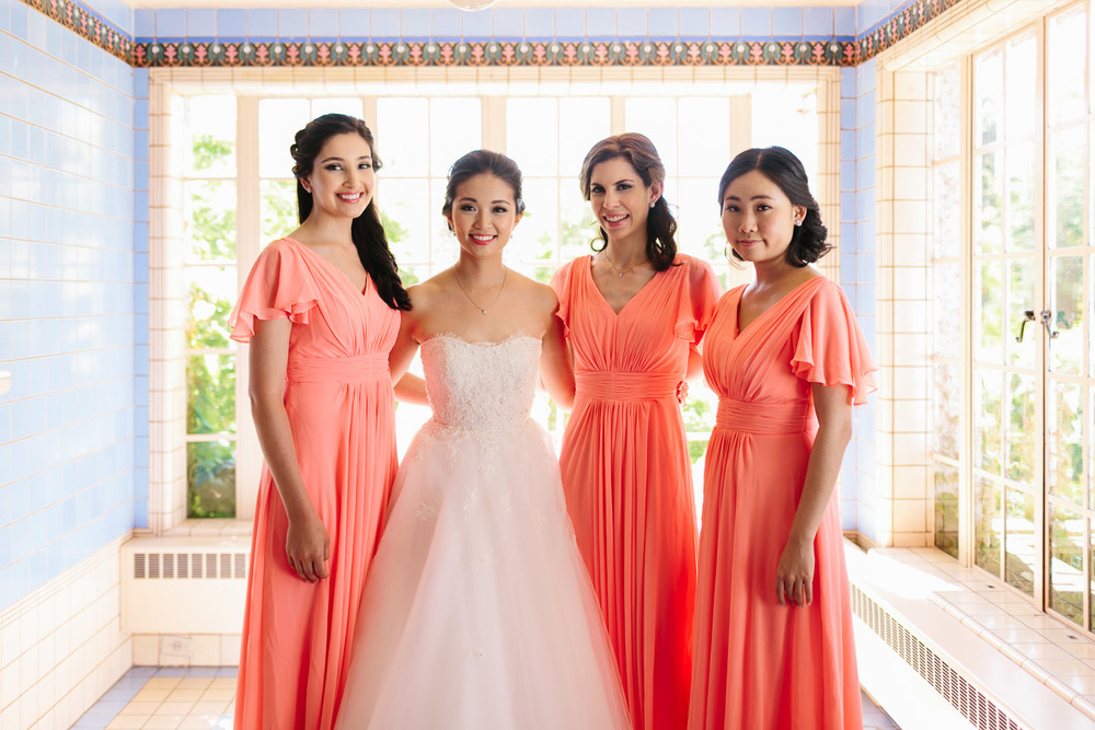 bridesmaids vancouver wedding photography at hycroft