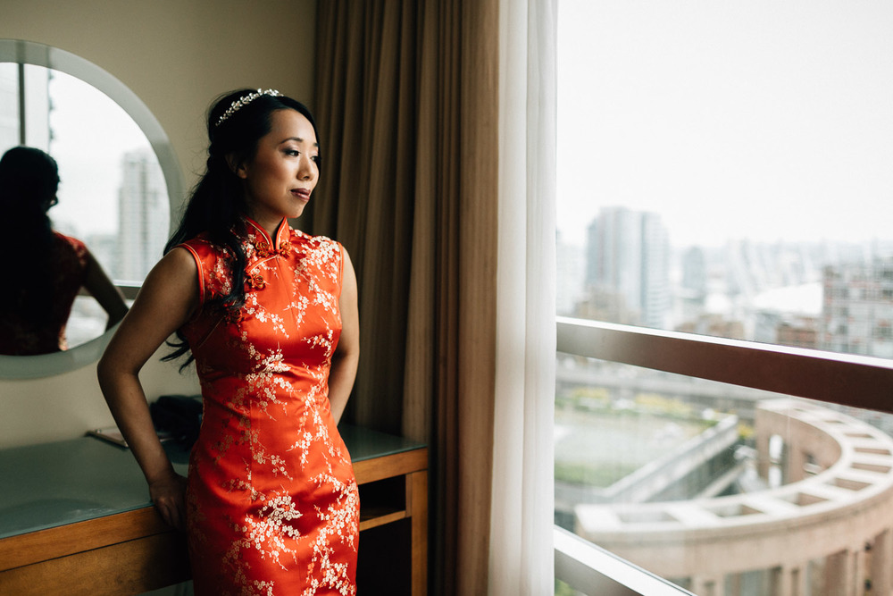 bride candid at the westin grand hotel vancouver wedding photographer