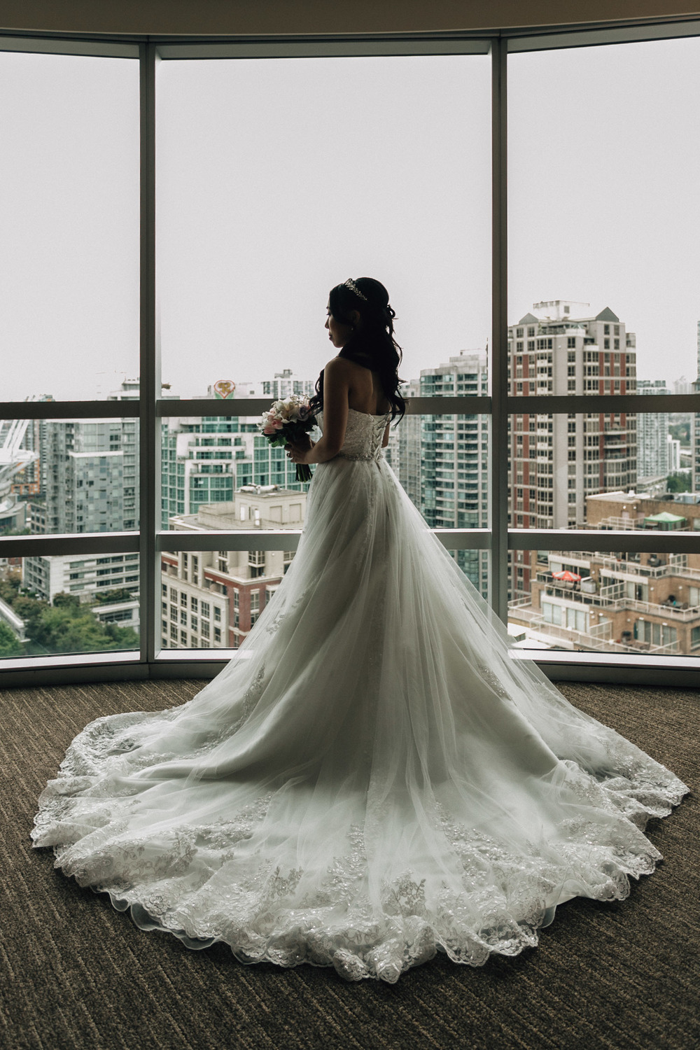 vancouver wedding photography bride wedding dress portrait