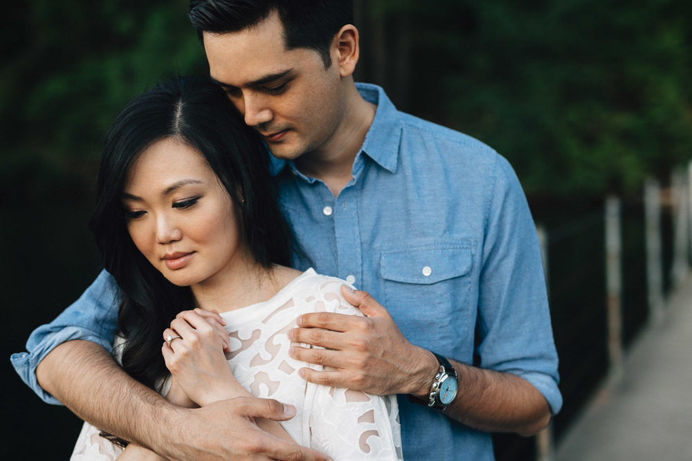 port moody engagement photographer sasamat lake with Jack Cusack & Elaine Kung