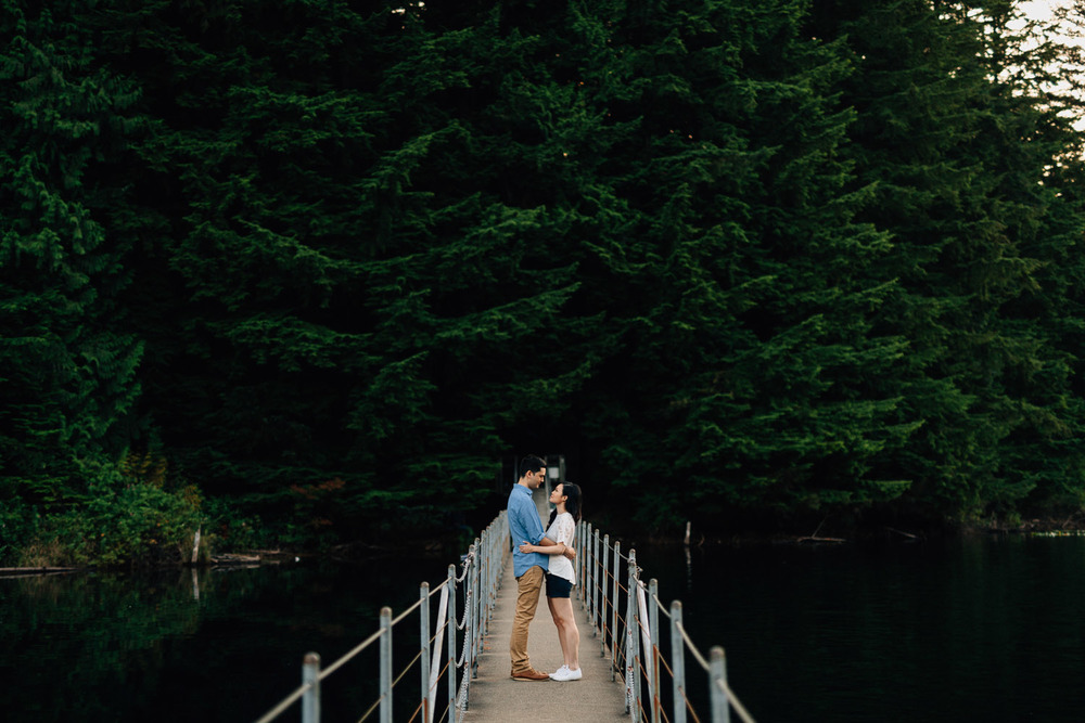 sasamat lake engagement photography