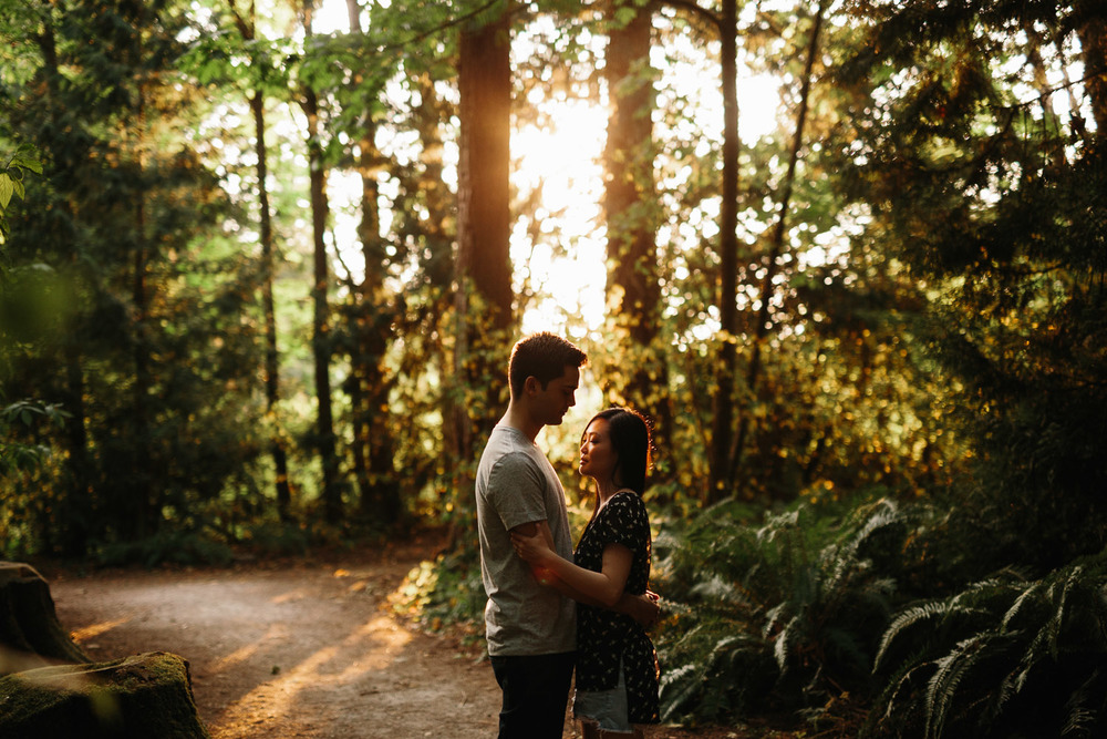 sunset engagement photography surrey