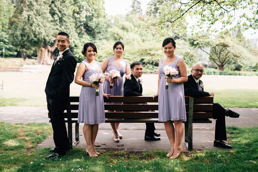bridal party portrait vancouver wedding photography