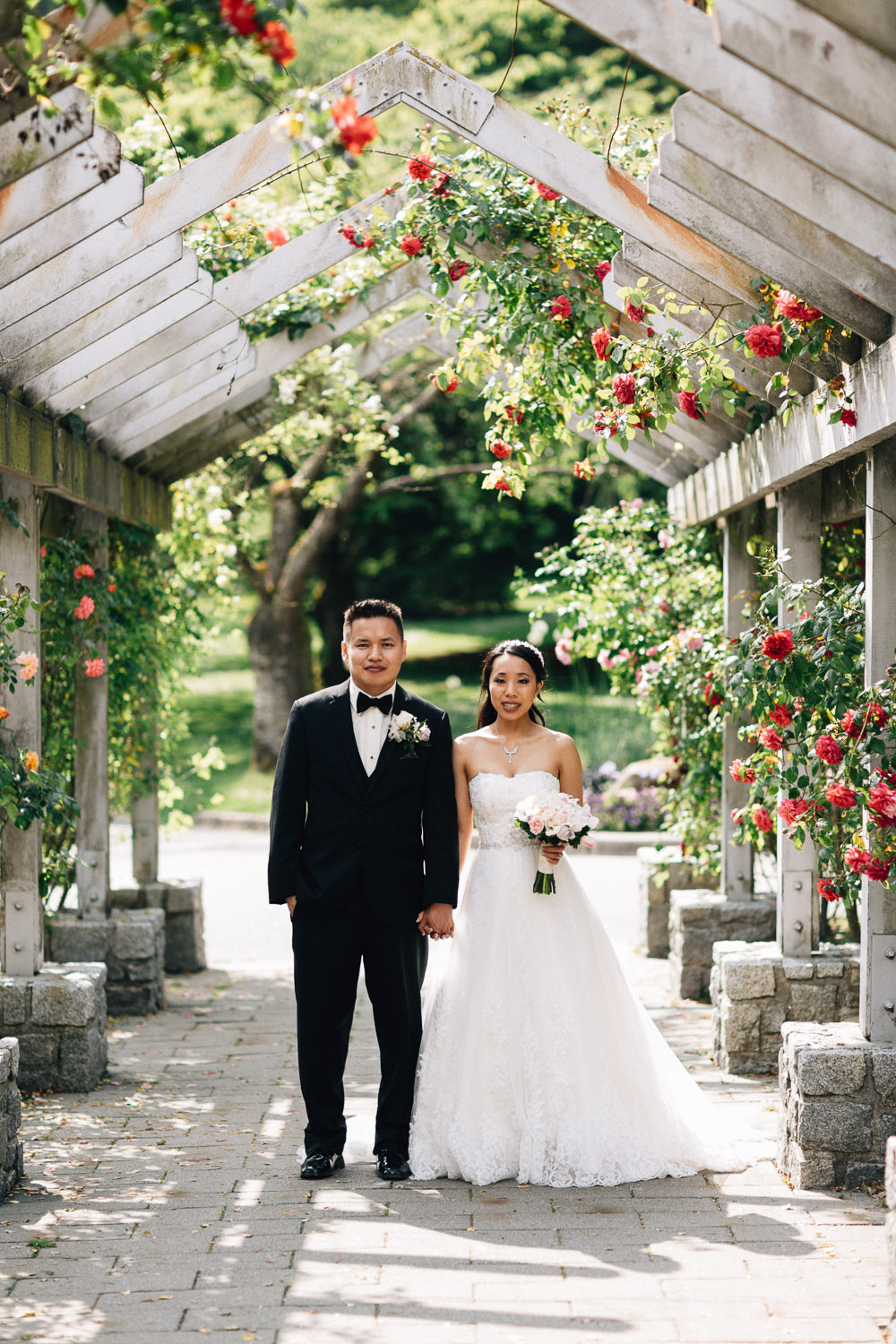 stanley park rose garden wedding vancouver portrait photography