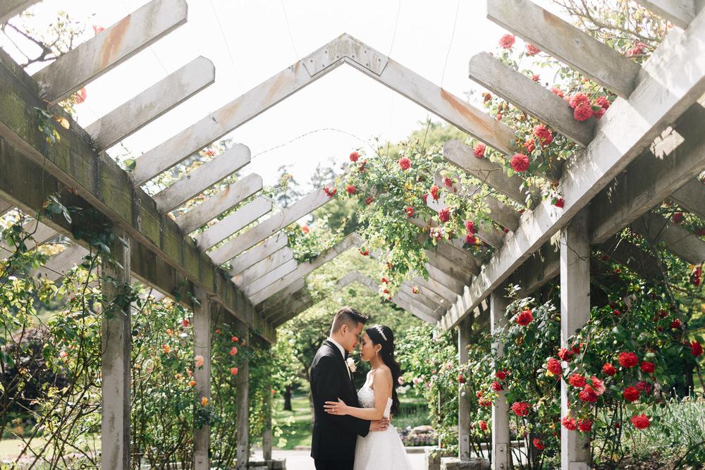 vancouver stanley park rose garden wedding