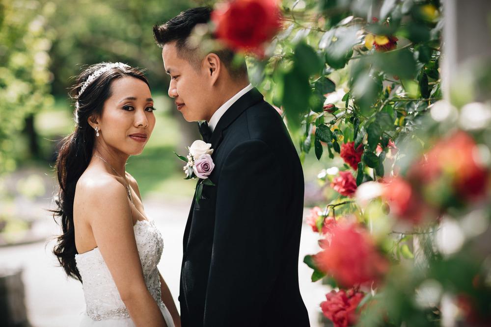 vancouver stanley park wedding potrait
