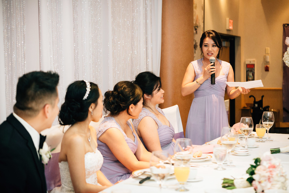 bridsmaid speech at sun sui wah wedding reception