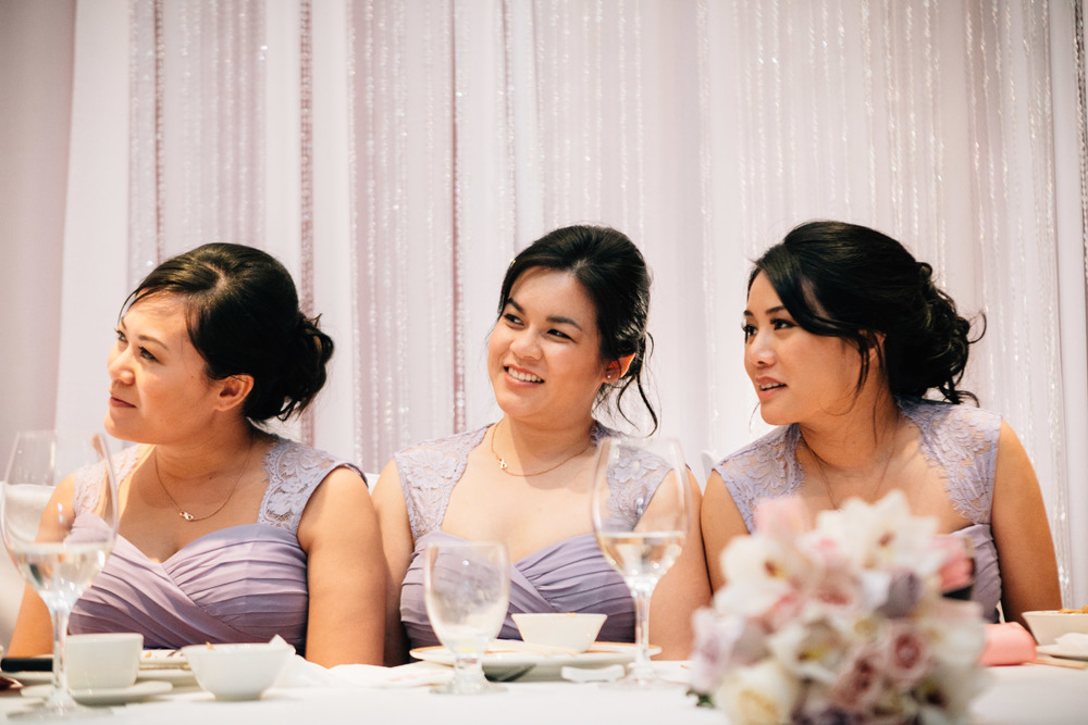 bridesmaids reception vancouver wedding photography