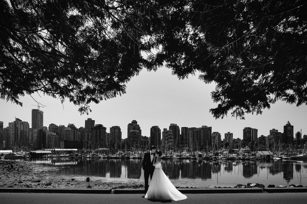 stanley park wedding vancouver portrait