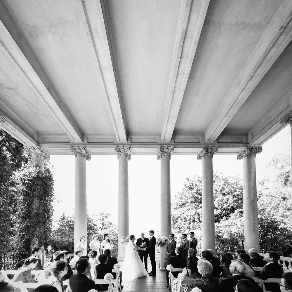 university women's club of vancouver hycroft wedding ceremony black and white