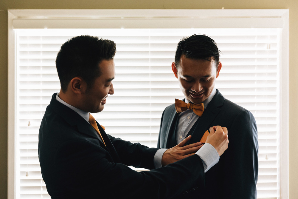 daniel kim and kenny lam getting ready groom and groomsman vancouver wedding photographer