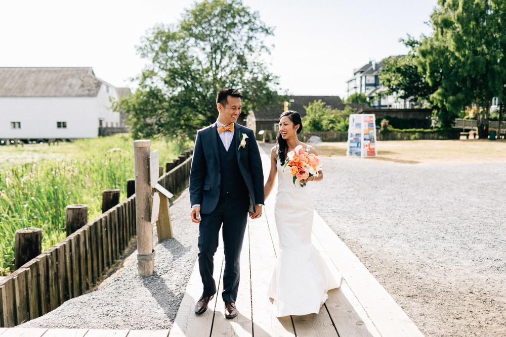 britannia heritage shipyard richmond candid walking wedding