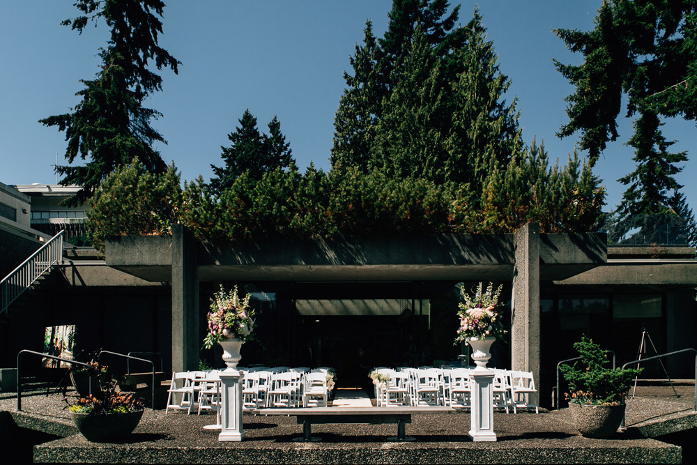 sage bistro at UBC wedding ceremony