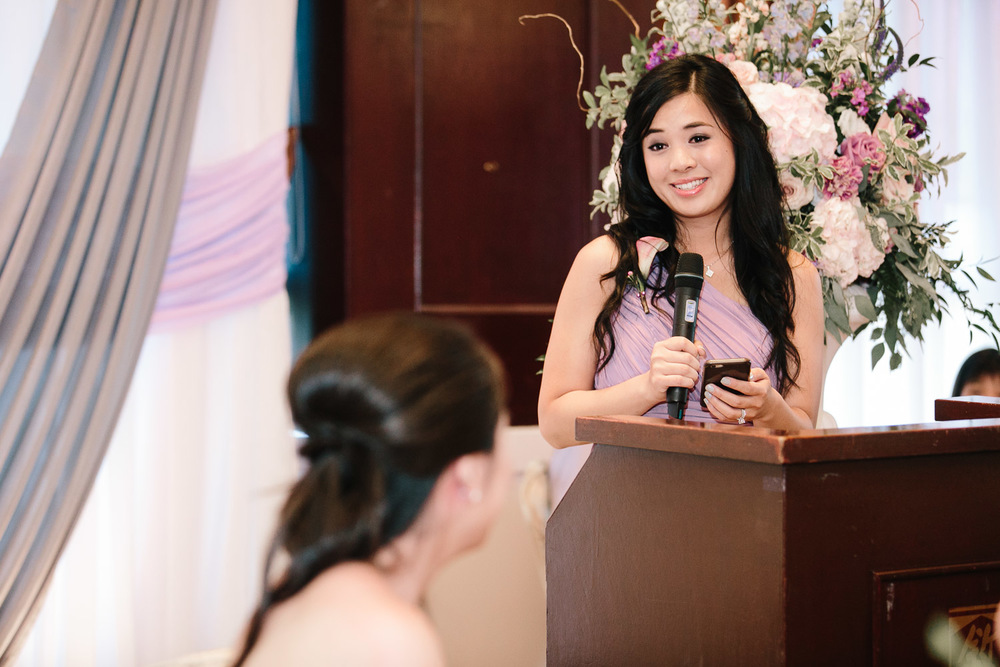 shiang garden bridesmaid speech wedding reception