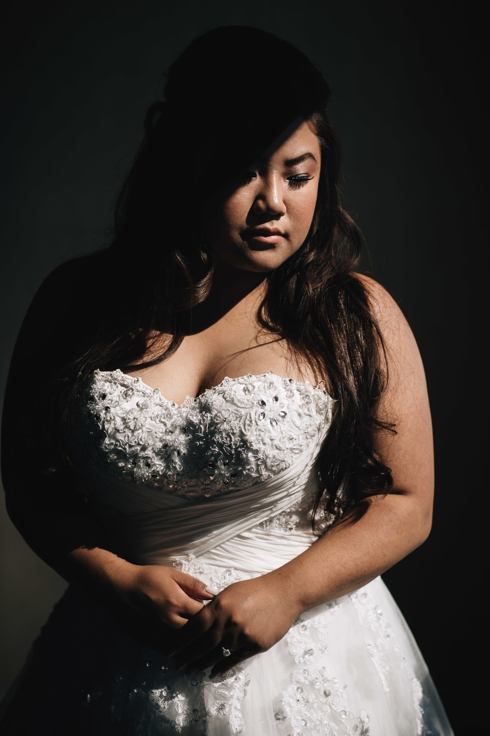 bride portrait in sandman hotel surrey for wedding photography vsco