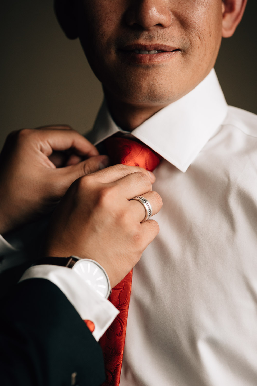 River Rock Casino Hotel Richmond Wedding Photographer groom getting ready