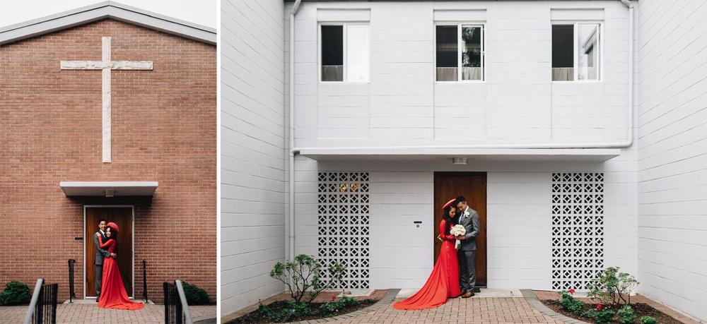 mission wedding photographer asian catholic blessing