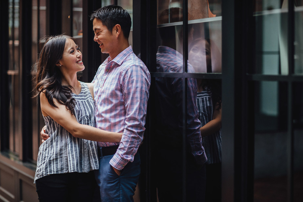 vancouver engagement photography in Gastown, Vancouver BC