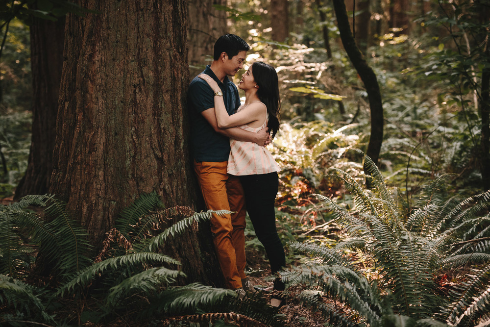 engagement photographer at redwood park, surrey BC