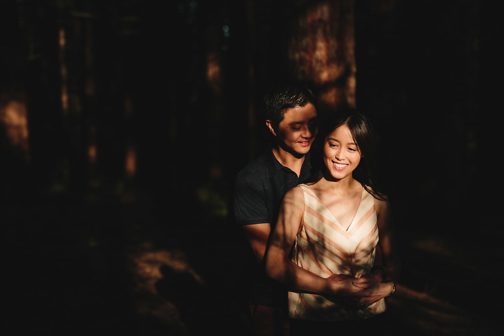 sunset light engagement photography in redwood park surrey BC