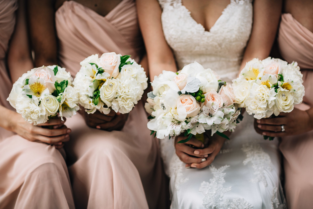 bridesmaids bouquet vancouver wedding photography yaletown