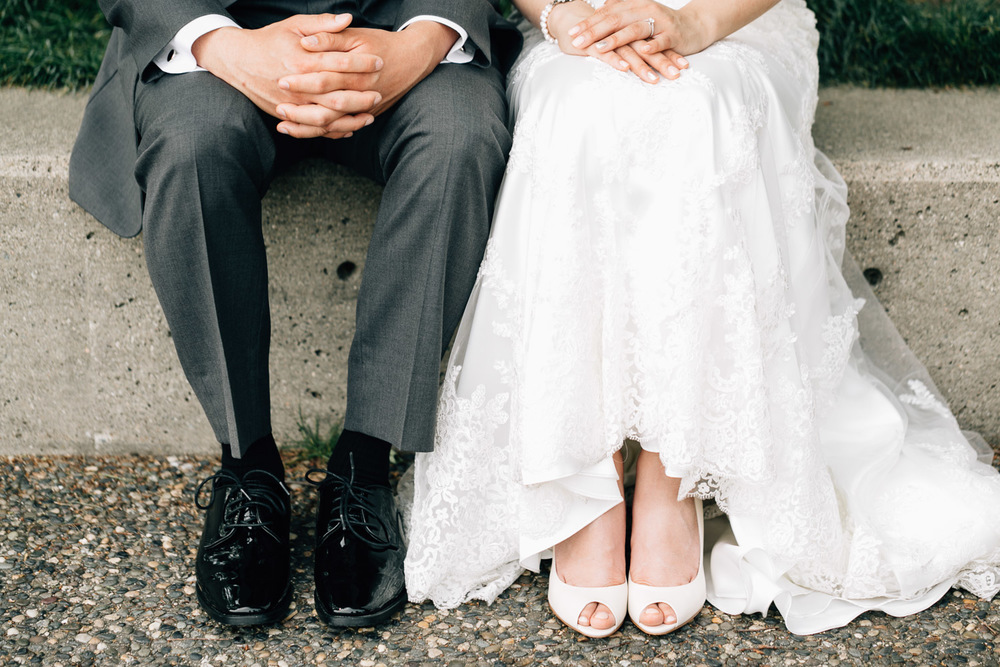 wedding shoes portraits bride and groom in yaletown roundhouse vancouver bc photography