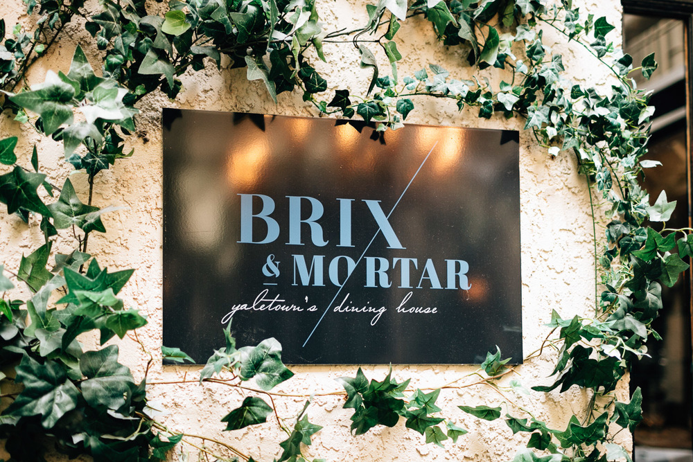 brix and mortar restaurant wedding ceremony yaletown vancouver photography