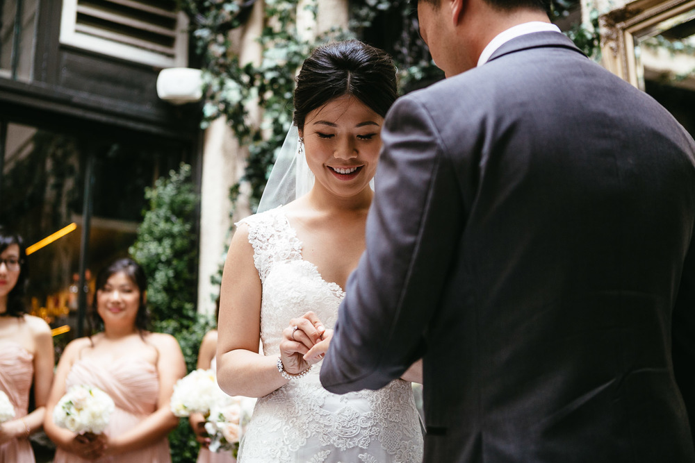 brix and mortar wedding ceremony in yaletown vancouver bc photography