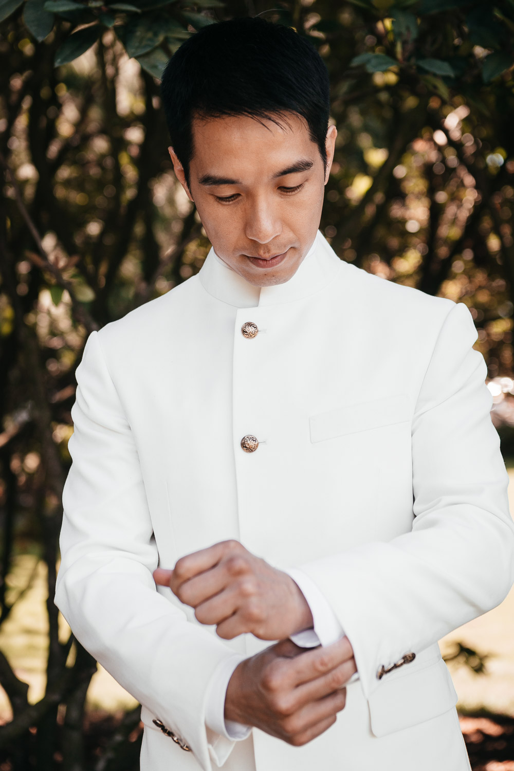 groom getting ready asian richmond wedding photography