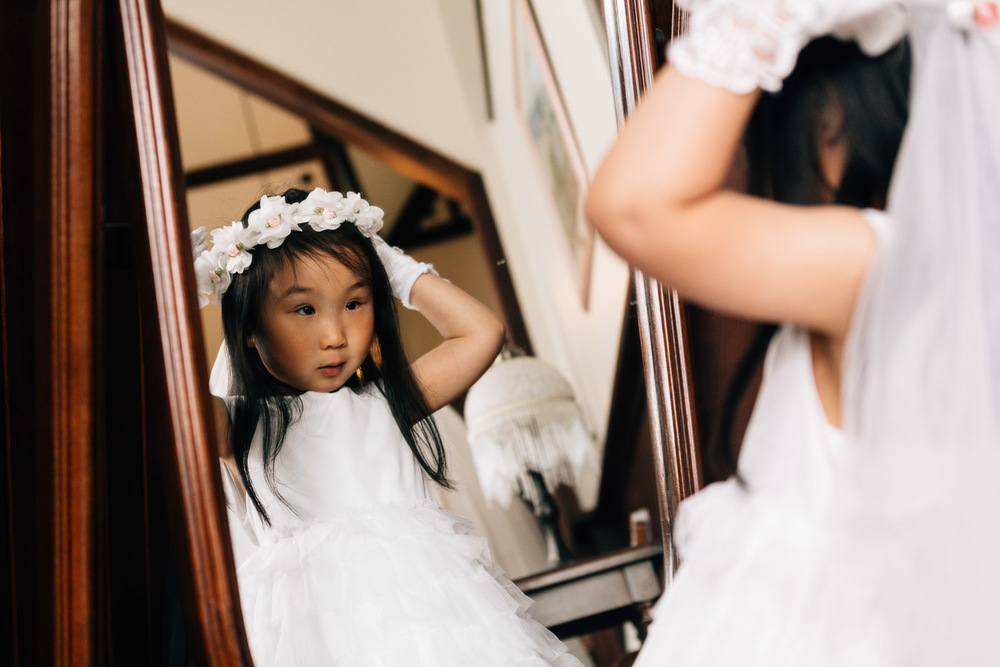 flower girl richmond wedding photography at minoru chapel