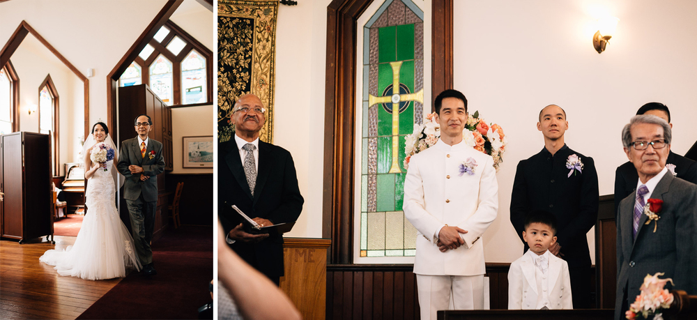richmond wedding photography ceremony at minoru chapel