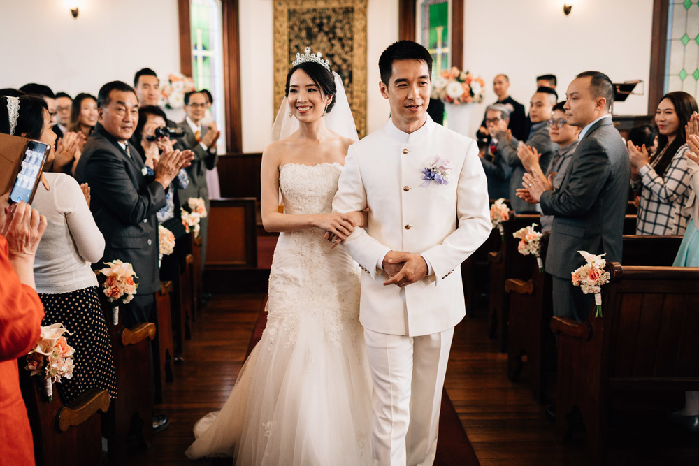 recessional wedding ceremony in richmond at minoru chapel photography