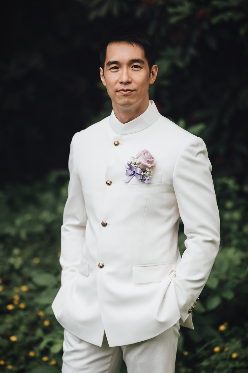 Taiwanese groom portrait Paul Tam in Richmond BC