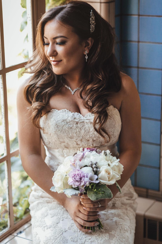 bride in hycroft university women's club of vancouver wedding