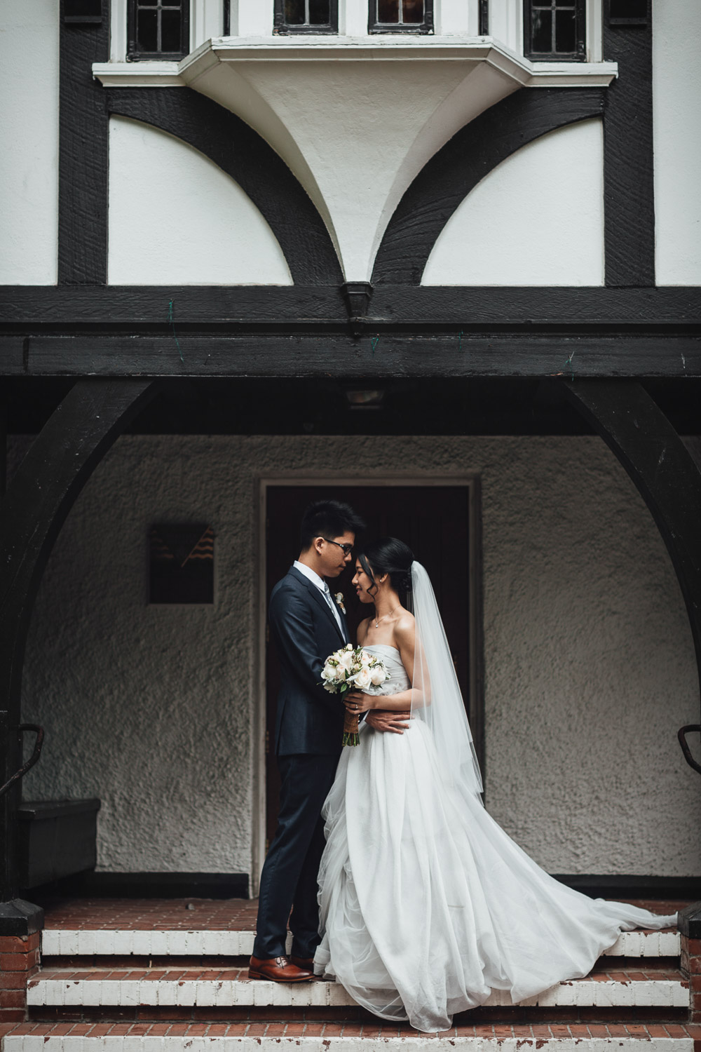 vancouver wedding photography at brockhouse restaurant with bride and groom