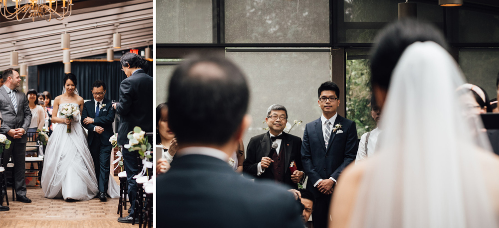 brockhouse restaurant vancouver wedding ceremony photography