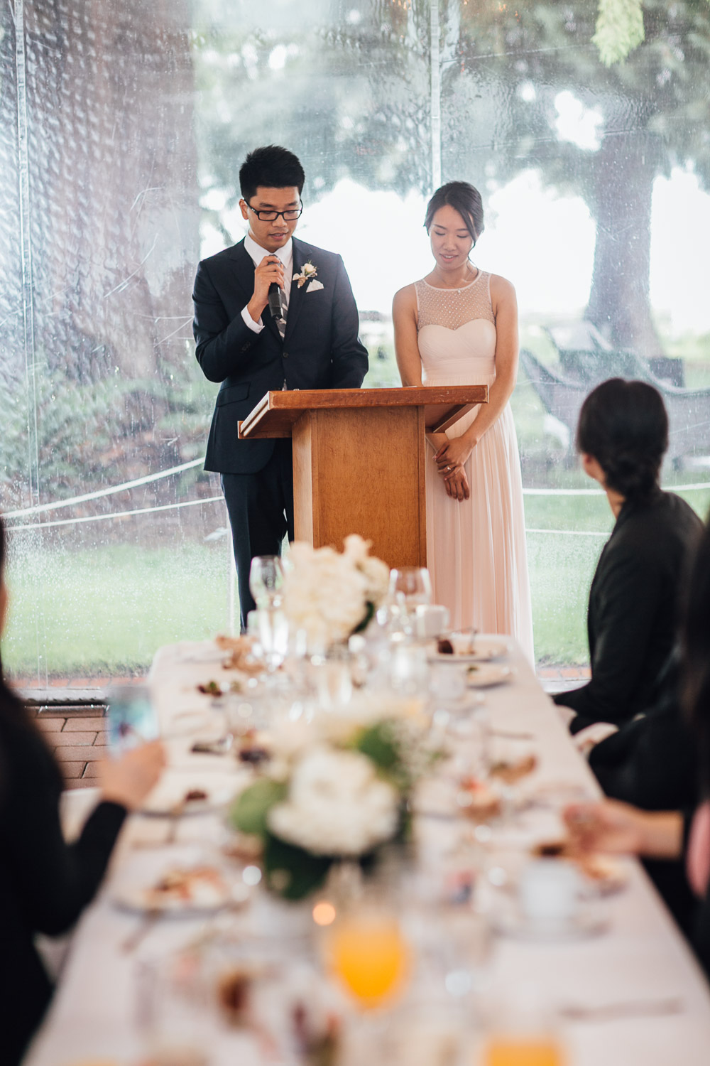 wedding reception speech at brockhouse restaurant in vancouver bc